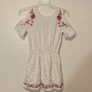 Abercrombie Kids White Embroidered Dress